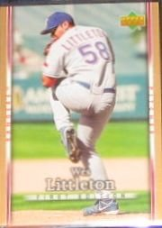 2007 UD First Edition Wes Littleton #159 Rangers