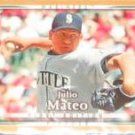 2007 UD First Edition Julio Mateo #141 Mariners