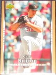 2007 UD First Edition Chris Britton #58 Yankees