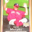 2007 UD First Edition Rookie David Murphy #5 Red Sox