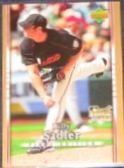 2007 UD First Edition Rookie Billy Sadler #38 Giants