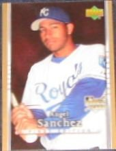 2007 UD First Edition Rookie Angel Sanchez #21 Royals