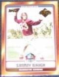 2006 Topps HOF Sammy Baugh #HOFT-SB Redskins