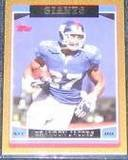 2006 Topps Gold Brandon Jacobs #22 #'d0434/2006