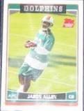 2006 Topps Rookie Jason Allen #317 Dolphins