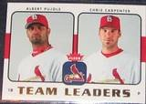 2006 Fleer Team Leaders Pujols/Carpenter #TL-25 Cardinals