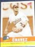 2006 Fleer Tradition Sepia Eric Chavez #27 Athletics