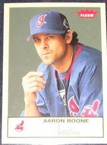 2005 Fleer Tradition Aaron Boone #224 Indians