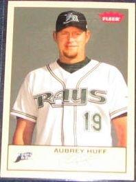 2005 Fleer Tradition Aubrey Huff #92 Devil Rays