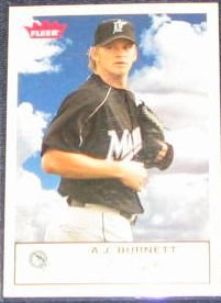 2005 Fleer Tradition A.J. Burnett #77 Devil Rays