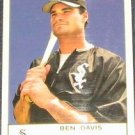 2005 Fleer Tradition Ben Davis #215 White Sox