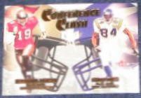 01 Fleer Tradition Conference Clash Johnson/Moss #2