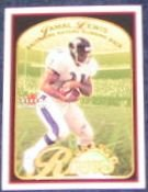 01 Fleer Tradition Grass Roots Jamal Lewis #7 Ravens