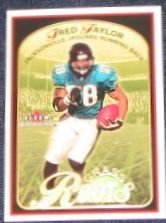 01 Fleer Tradition Grass Roots Fred Taylor #4 Jaguars
