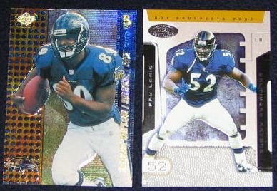 2002 Fleer Ultra Hot Prospects Ray Lewis #59 Raven