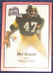 2000 Fleer Greats of the Game Mel Blount #58 Steelers