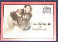 2000 Fleer Greats of the Game Chuck Bednarik #26