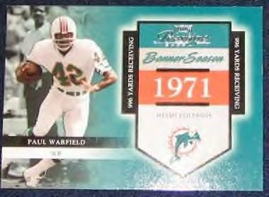 2002 Playoff Banner Season Paul Warfield #31 #'d1595/1971