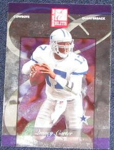 2002 Donruss Elite Quincy Carter #65 Cowboys