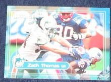 2000 Fleer Impact Zach Thomas #58 Dolphins