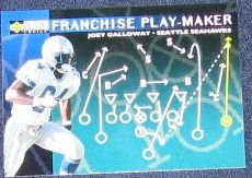 1996 Coll. Choice Play-Maker Joey Galloway #U89