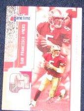 2001 Fleer Game Time Jeff Garcia #28 49ers