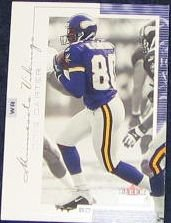 2001 Fleer Genuine Cris Carter #8 Vikings