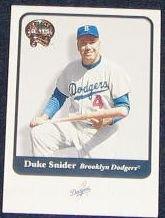 2001 Fleer Greats of the Game Duke Snider #133 Dodgers