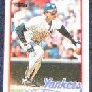 1989 Topps Rickey Henderson #380 Yankees