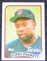 1989 Topps Kirby Puckett #650 Twins