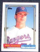 1992 Topps Debut Mark Petkovsek #138 Rangers