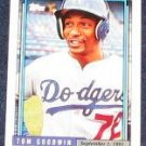1992 Topps Debut Tom Goodwin #65 Dodgers