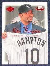 2001 UD Sweet Spot Mike Hampton #60 Rockies