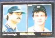 1993 Pinnacle Now & Then Don Mattingly #470 Yankees