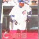 2001 UD Evolution Sammy Sosa #56 Cubs