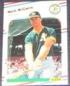 1988 Fleer Mark McGwire #286 Athletics