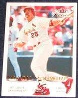 2001 Fleer Focus Mark McGwire #156 Cardinals