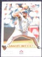 2001 Fleer Focus David Wells #166 Blue Jays