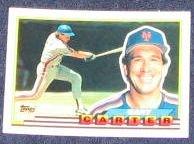 1989 Topps Big Gary Carter #325 Mets