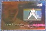 2000 UD Prime Performers Sean Casey #PP7 Reds