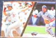 1994 Flair Infield Power Mike Piazza #7 Dodgers