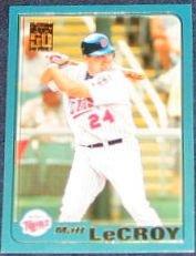 2001 Topps Traded Matt LeCroy #T204 Twins