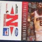 99-00 Nebraska Basketball Pocket Sked.Larry Florence