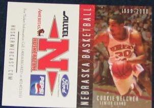 99-00 Nebraska Basketball Pocket Sked. Cookie Belcher