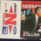 00-01 Nebraska Basketball Pocket Sked. Barry Collier