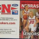 00-01 Nebraska Woman's Basketball Pocket Sked. Seniors