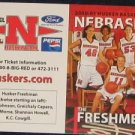 00-01 Nebraska Woman's Basketball Pocket Sked. Freshman