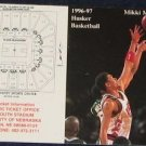 96-97 Nebraska Basketball Pocket Sked. Mikki Moore