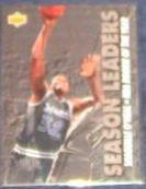1993-94 UD Season Leaders Shaquille O'Neal #177 Magic