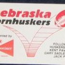 1991 Nebraska Football Pocket Schedule Budweiser
